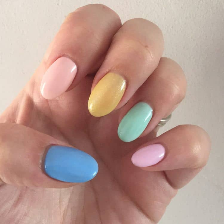 This Is One Of The Best Color Combinations Pastel Colors You Can Simply Paint Each Your Nails With A Diffe To Have These Amazing