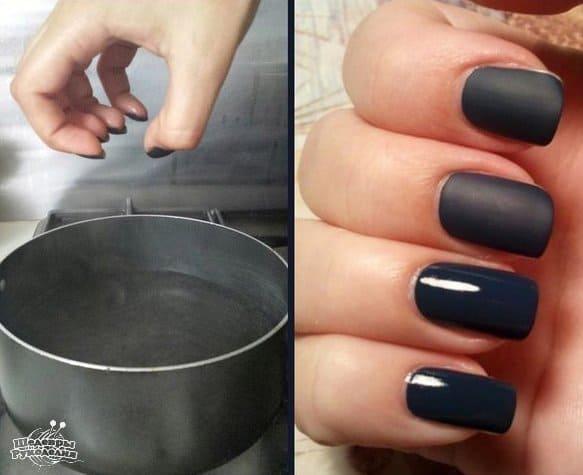 Steam to make matte nail