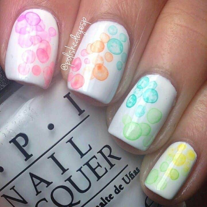 Bubble drip japanese nails