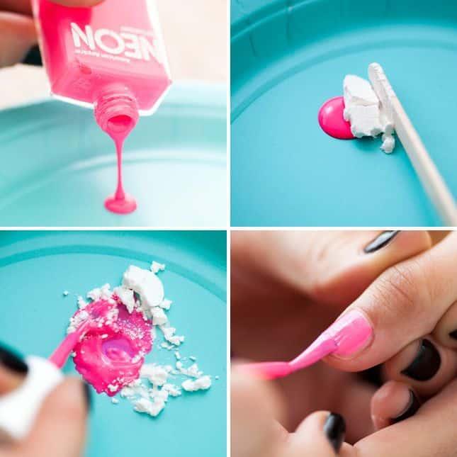 matte nail polish with baking soda
