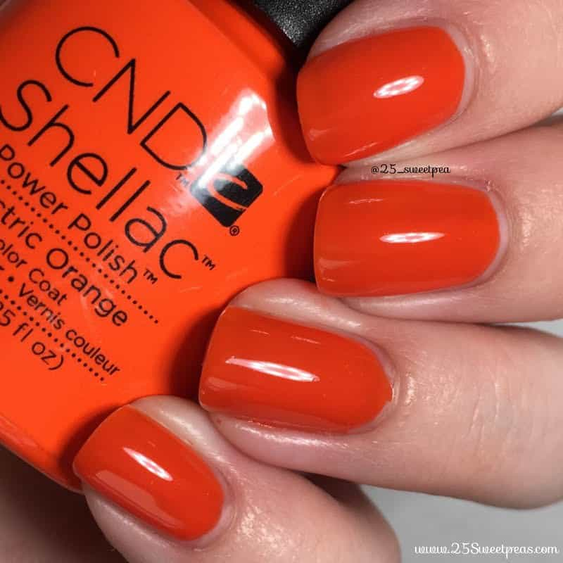 Electric Orange shellac colors