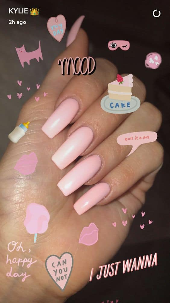 Kylie Jenner insta-pink nails