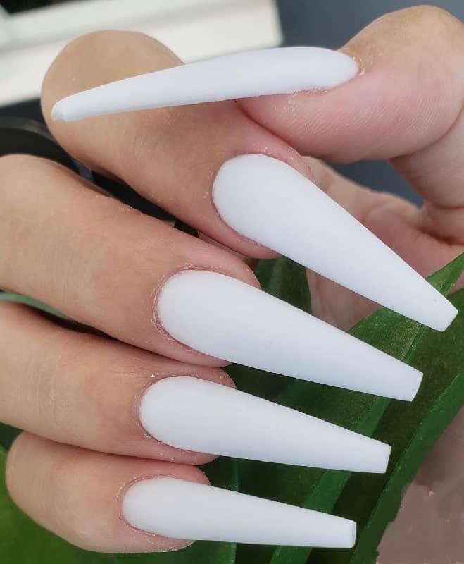 long white coffin nails