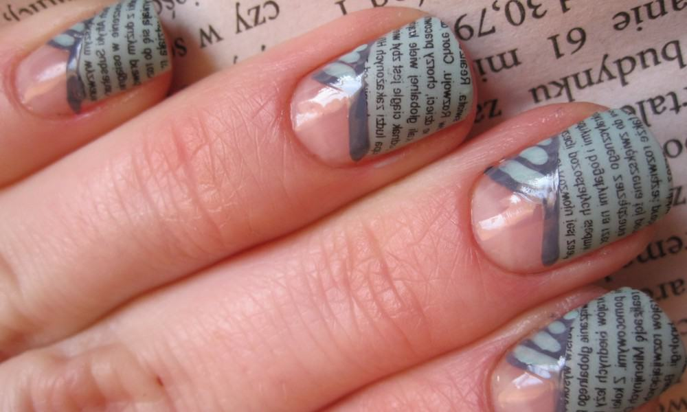 newspaper nail idea