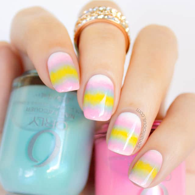 Band of Mixed Pastel Colors