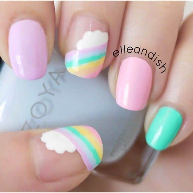 25 Pastel Nail Ideas So You Can Keep The Edge Naildesigncode