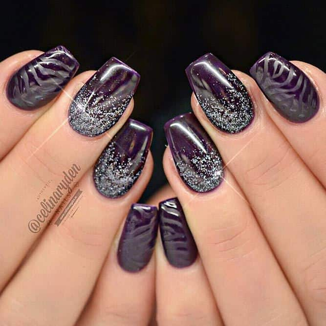 Short Coffin nail design