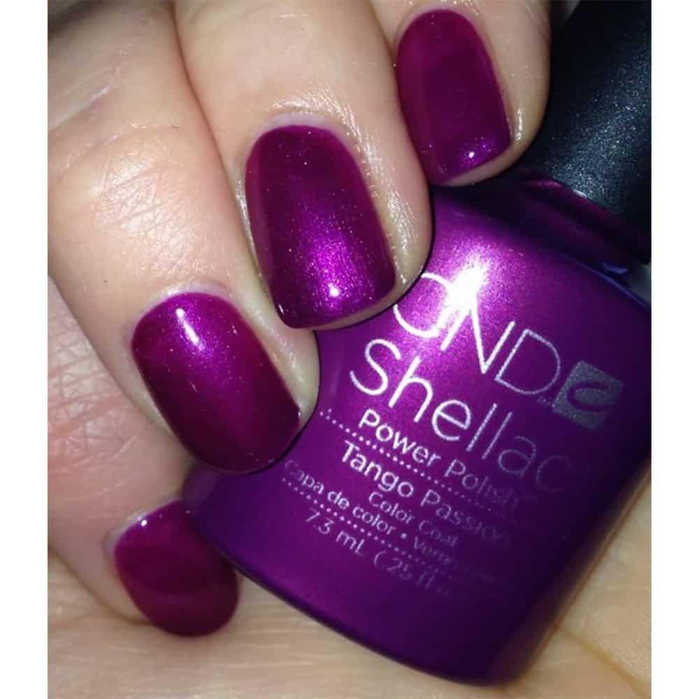 shellac nail- tango passion