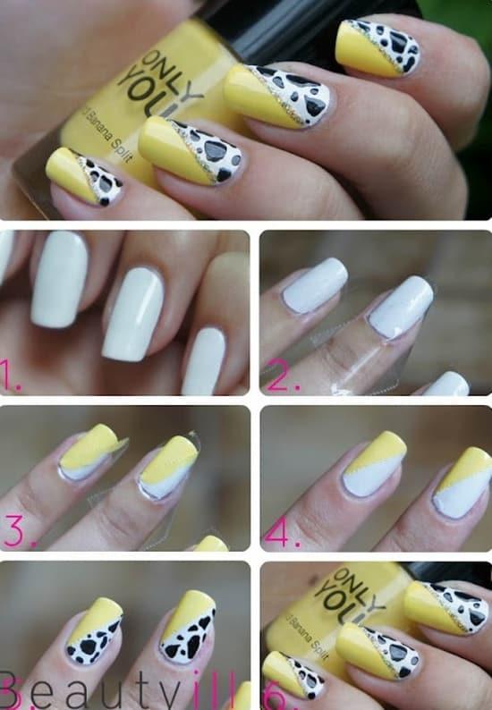 Yellow Nail Art Tutorial