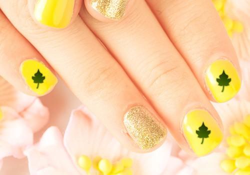 Bright Yellow Nail Designs