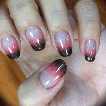 20 Dramatic Two Tone Nails To Take Over Instgram Naildesigncode
