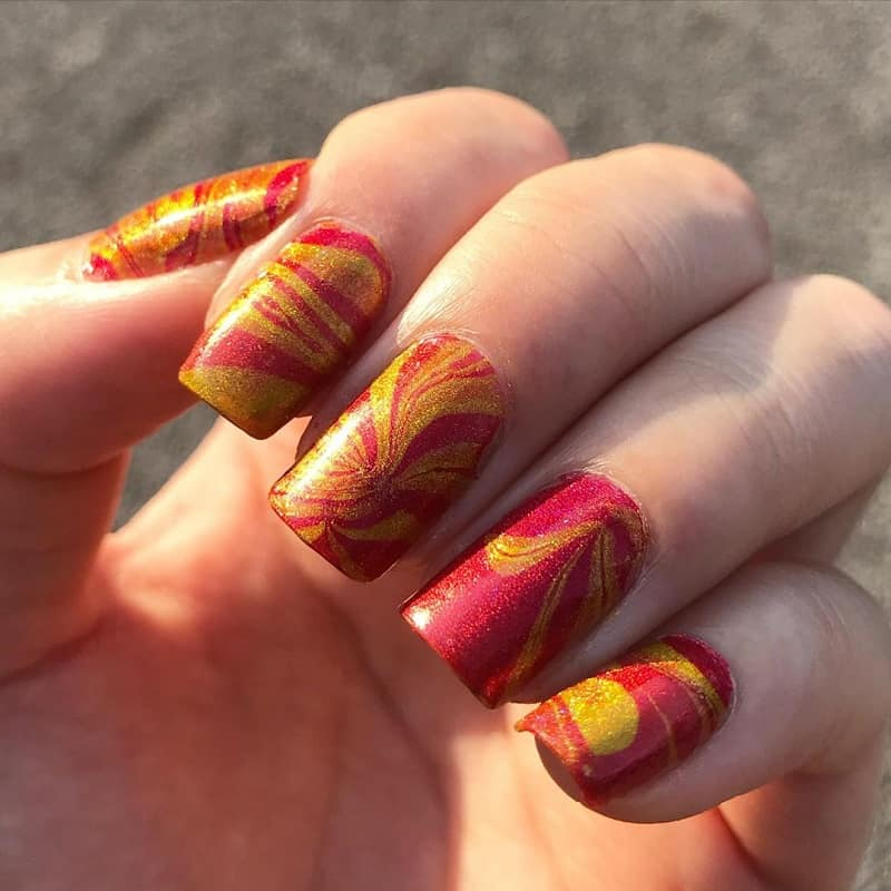 water marble nail art for beginners