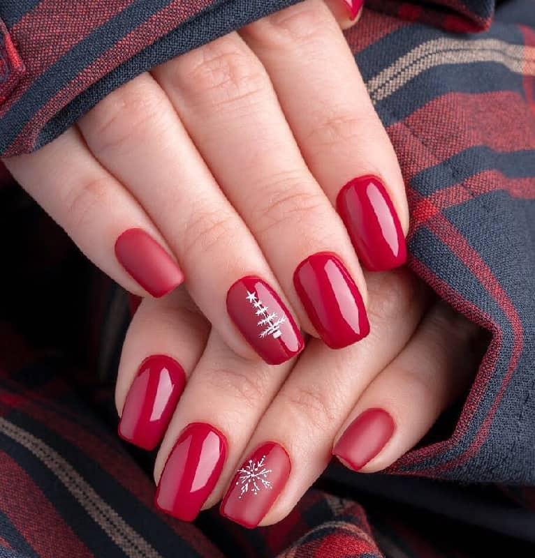 christmas nail art stamping