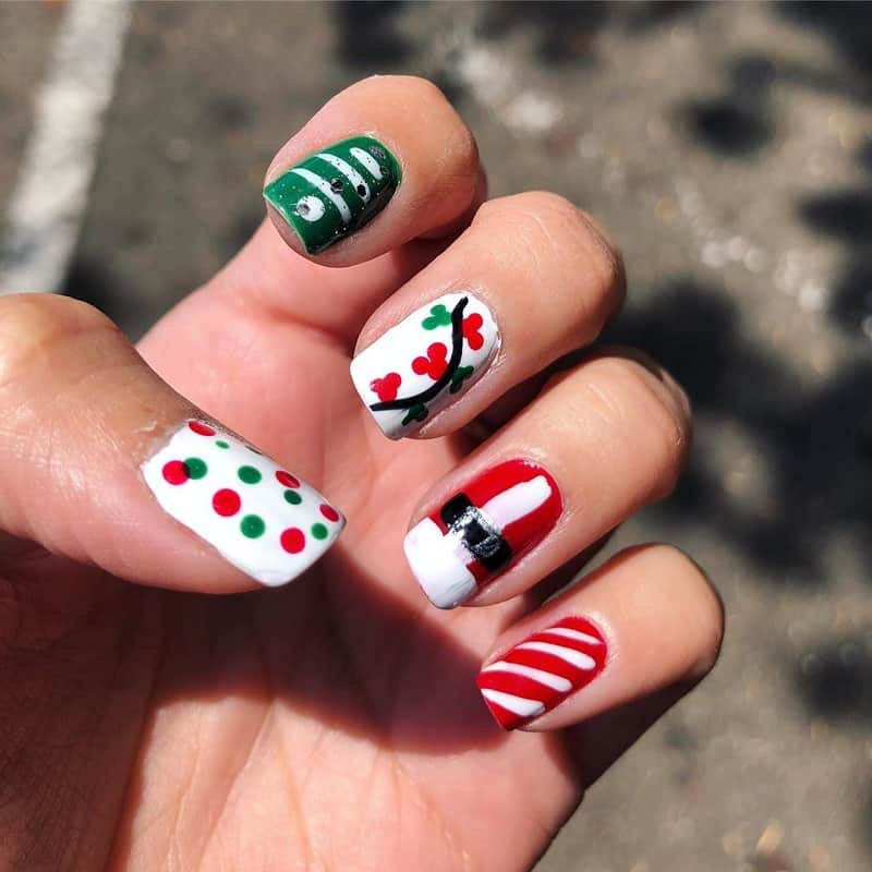christmas nail art for beginners