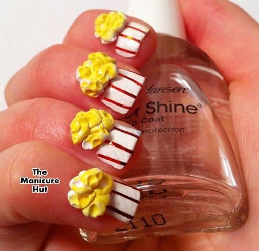 3D cup cake nail art