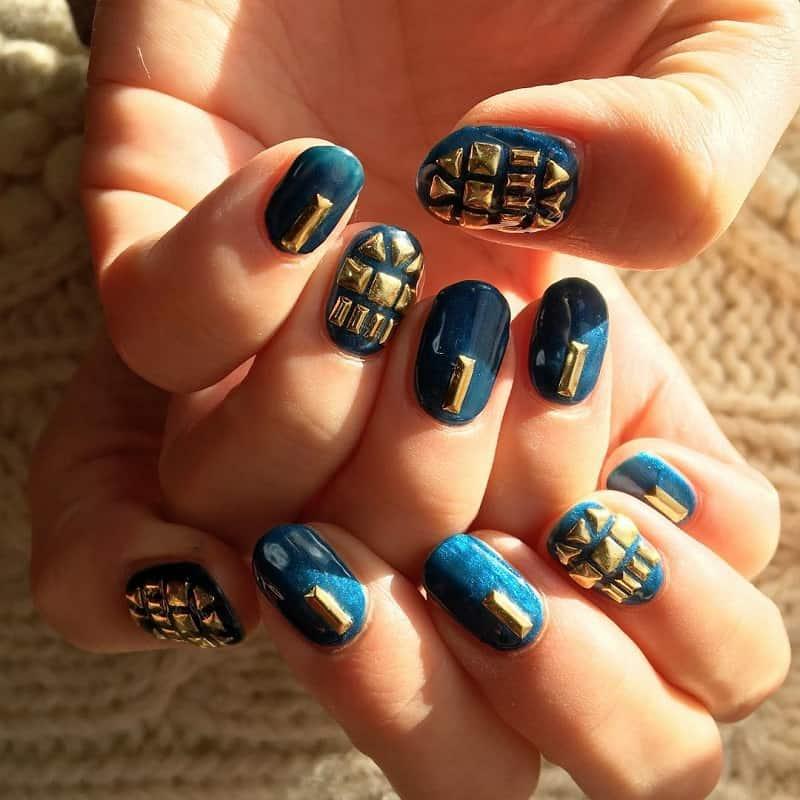 3d studs nail art