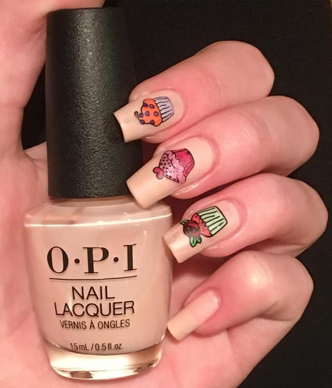 cupcake nails stickers