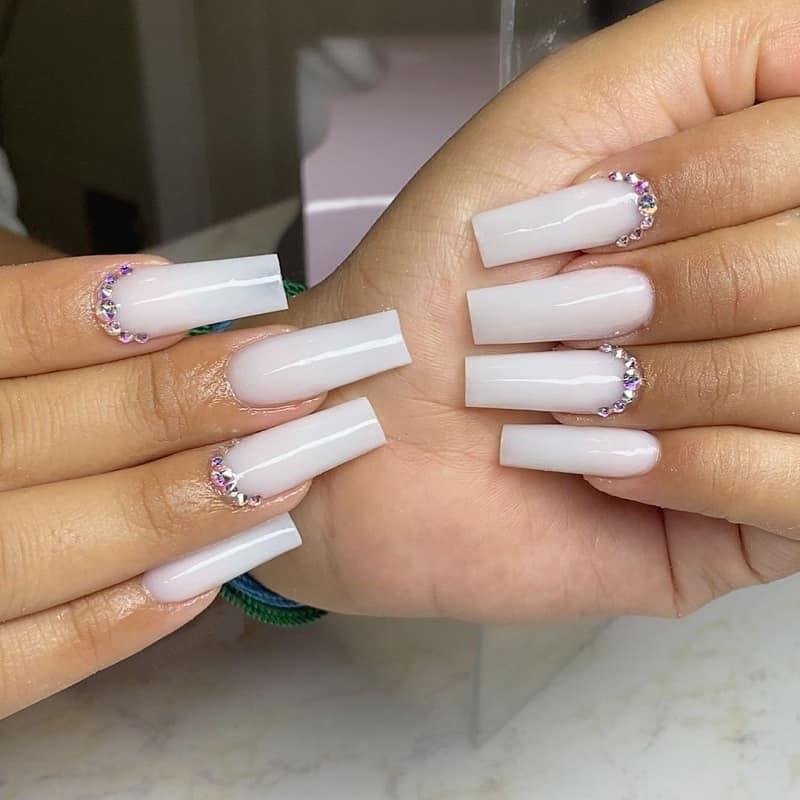 long shellac nails