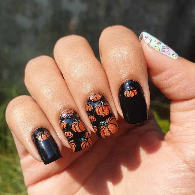 pumpkin nail stickers