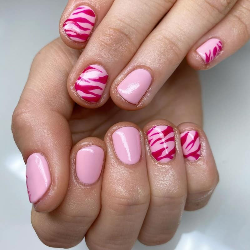 zebra nail art for beginners