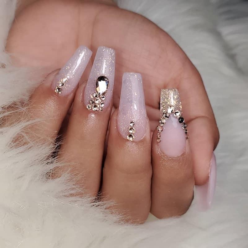 jewels quinceanera nails