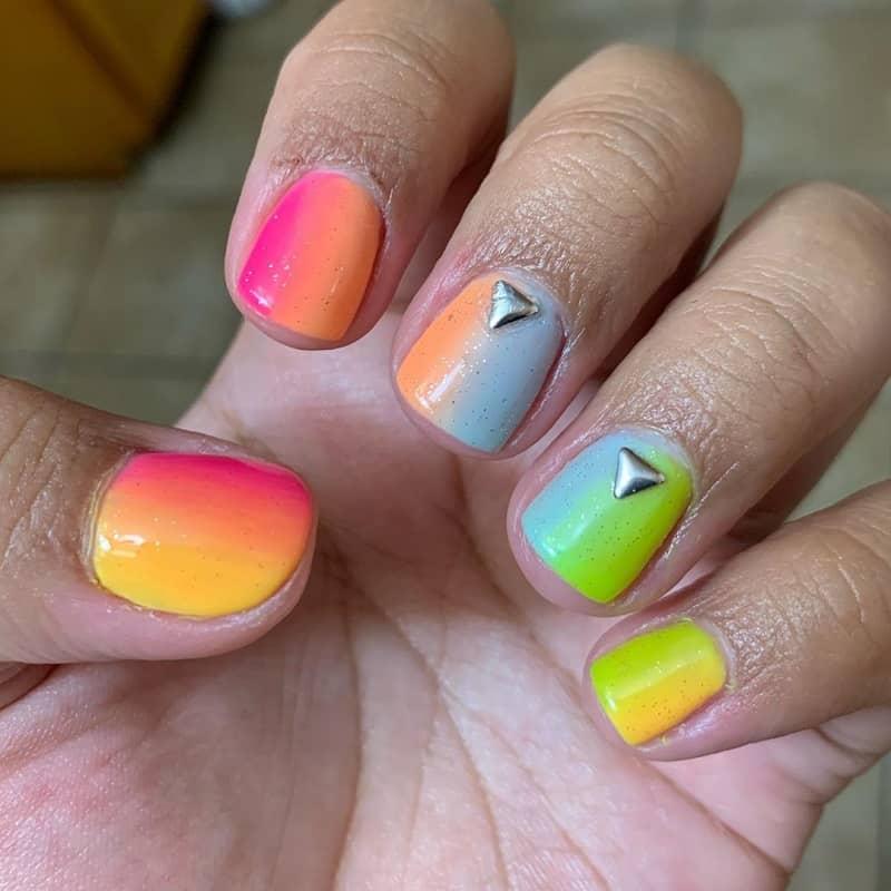 silver studs nail