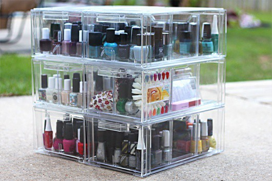 multi-purpose storage for your nailpolish