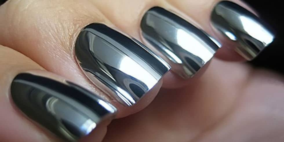 mirror metallic nails