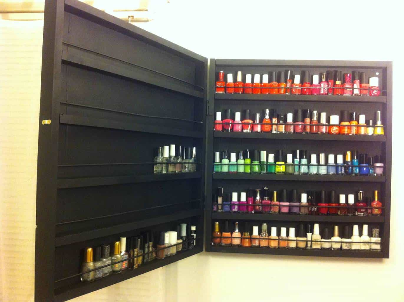 professional nail polish rack