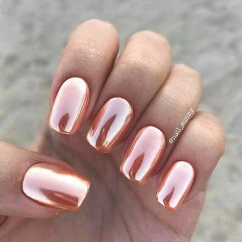 chrome quinceanera nails