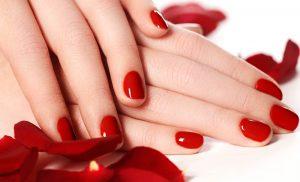summer shellac nail