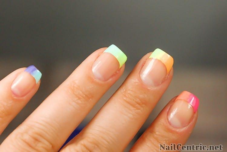 french mani sunset nails