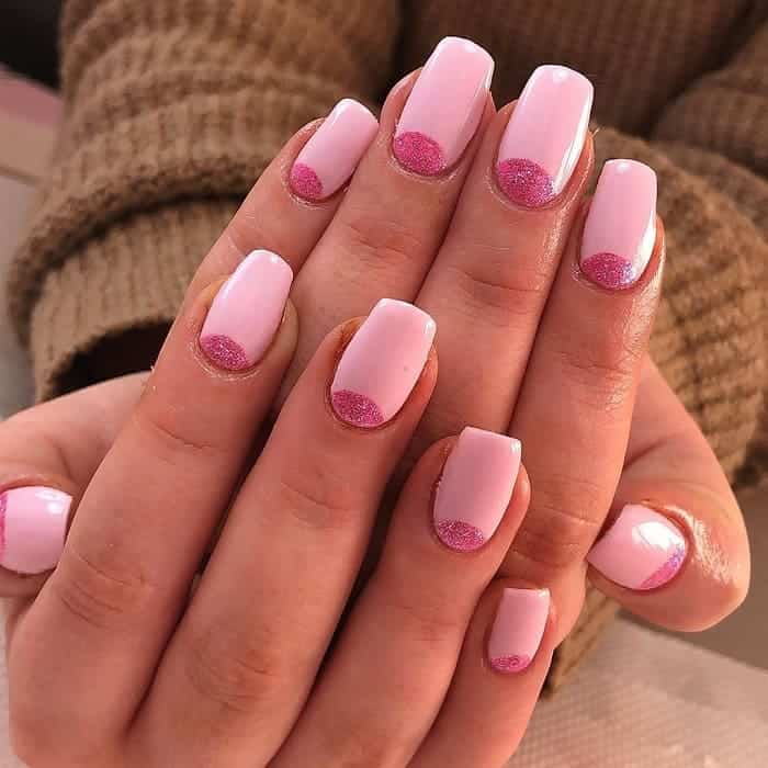 baby pink gel nails