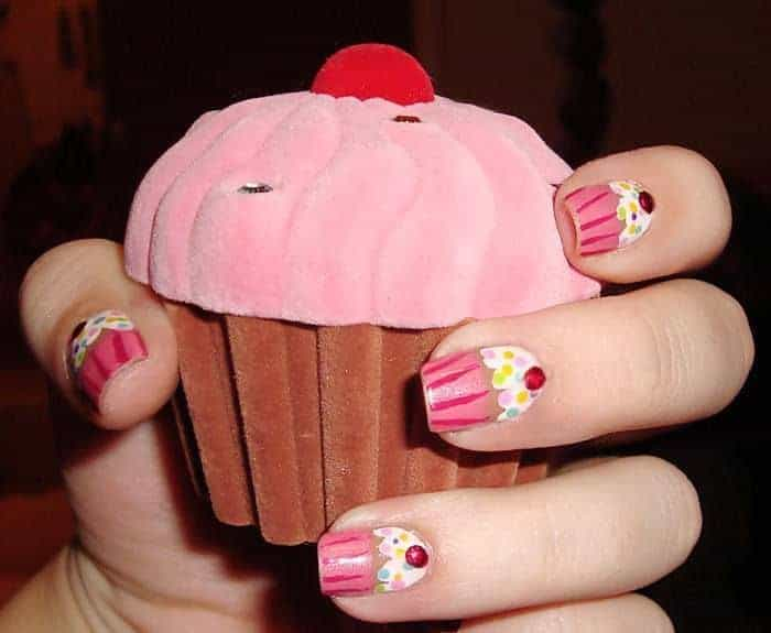 Yummy 15 Cupcake Nail Designs for The Sweet Tooth