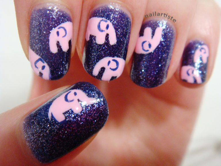 10 Cute Elephant Nail Designs to Copy