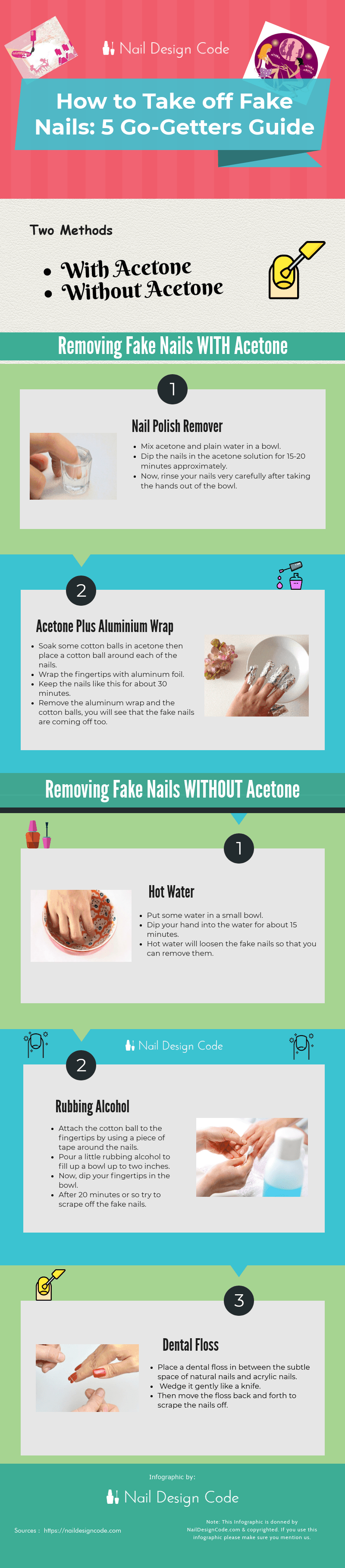 how to take off fake nails at home with and without acetone [Infographic]