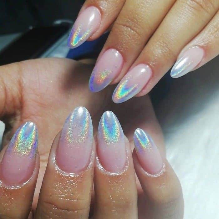 Holographic Ombre Nails