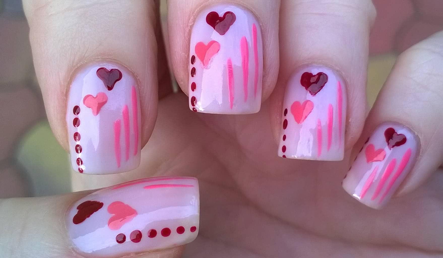 valentines day pastel nails