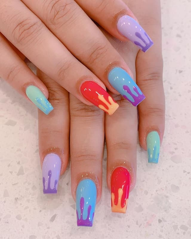 spring colored nail tips