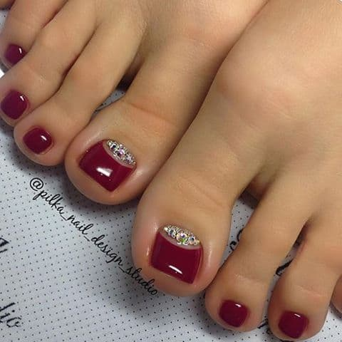 Reverse French Pedicure