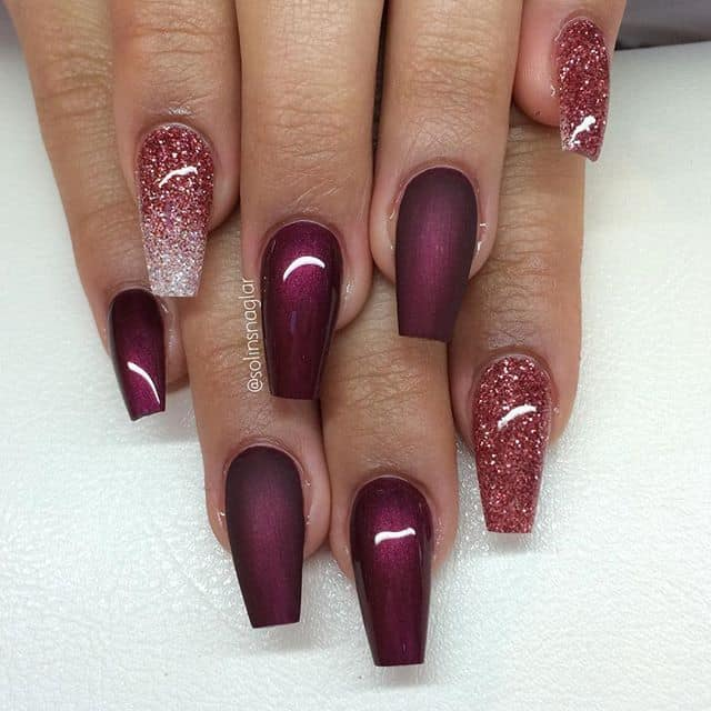 How To Do Ombre Glitter Gel Nails Papillon Day Spa