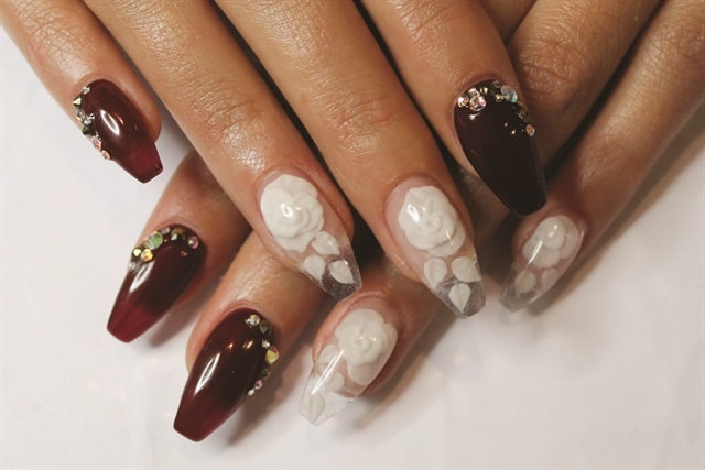 short coffin nails in Translucent Look