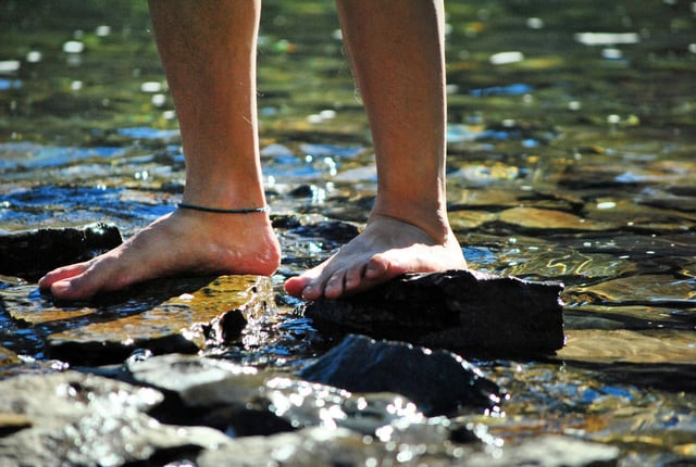 excessive contact with water can cause dry skin on feet
