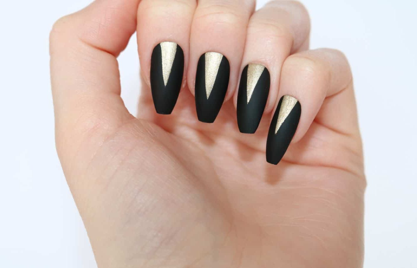 12 Best Matte Black Coffin Nails for 2018 – NailDesignCode