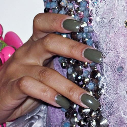 Nicki Minaj square nails