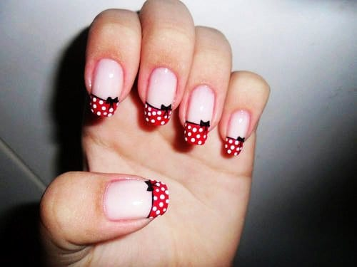 Polka Dots nail tips