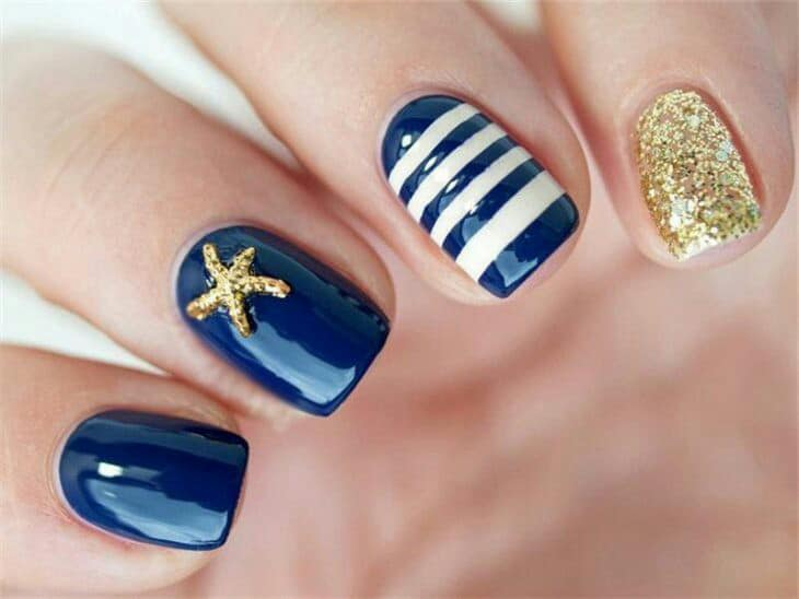 nautical nails designs