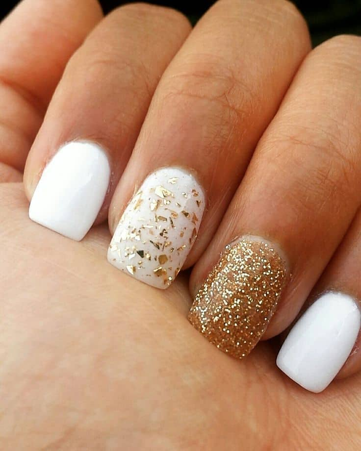 Absolutely White Shellac with Glitter