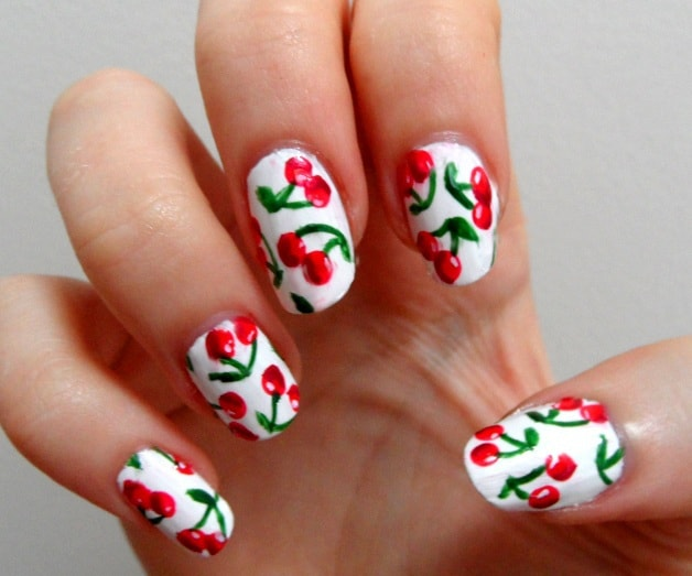 Cherry Fruits nails designs