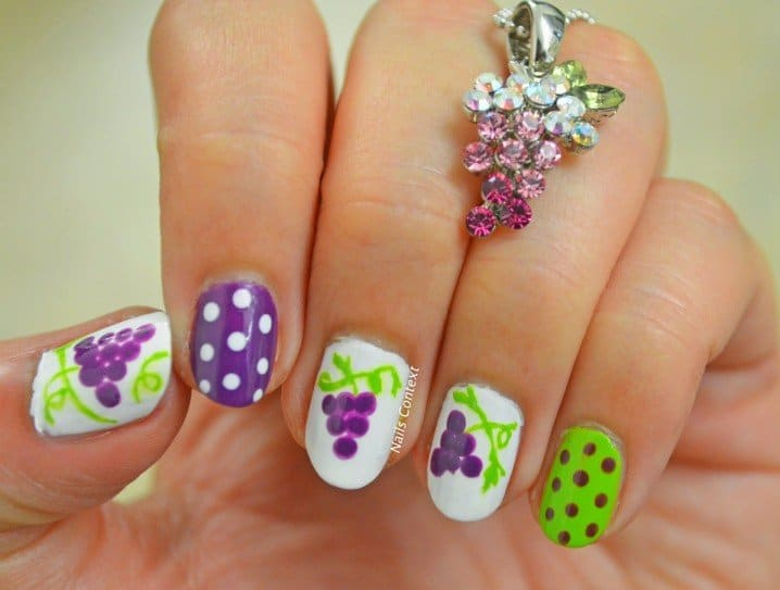 Grape Vine nail designs